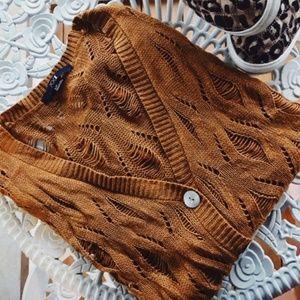 Forever 21 Crochet Knit Cardigan